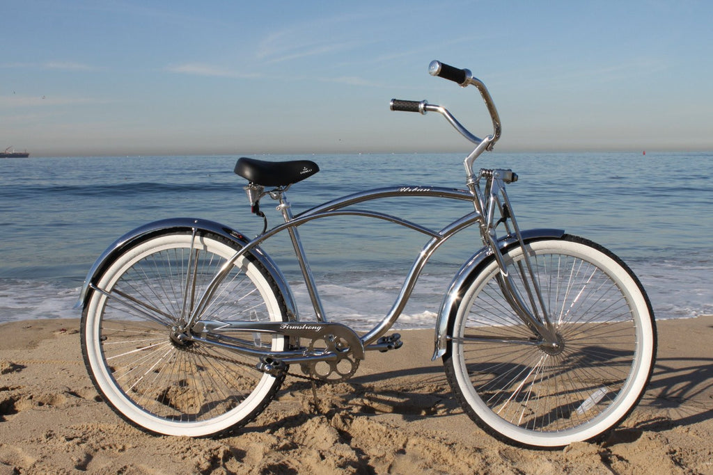 "26/"" CRUISER BEACH BIKE  Firmstrong LRD w spring fork 68 spokes Chrome"