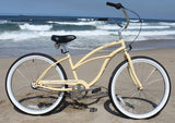 "Firmstrong Urban Lady 3 Speed - Women's 24"" Beach Cruiser Bike"