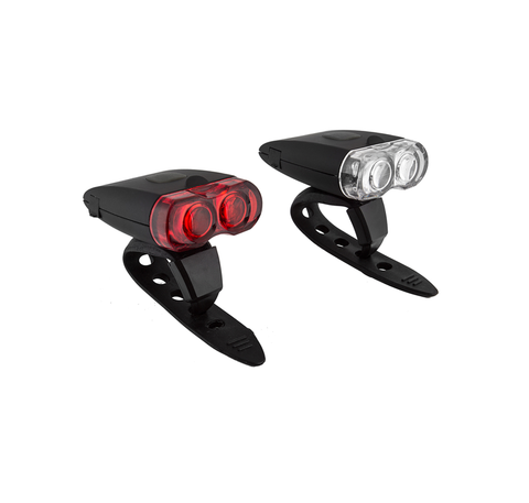 Sunlite Micro USB Rechargeable Front and Rear Light Set