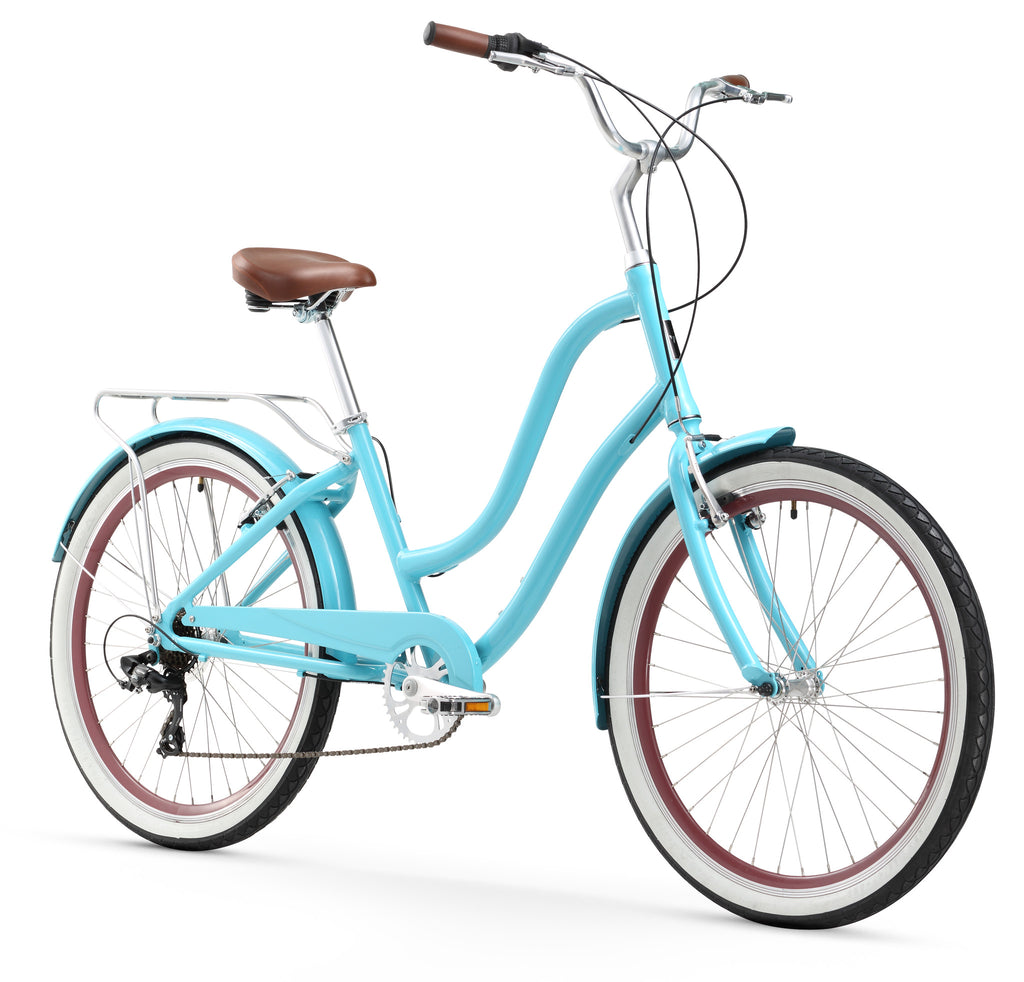 "Firmstrong ANYjourney Women's 26"" 7 Speed, Teal"