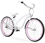 White with Pink Rims