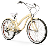 "Firmstrong Bella Fashionista 7 Speed - Women's 26"" Beach Cruiser Bike"