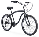 Firmstrong Bruiser Prestige 21 Speed Men's Beach Cruiser Bicycle