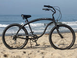 "Firmstrong Bruiser 7 Speed Men's 26"" Beach Cruiser Bike"
