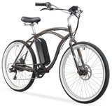 "Firmstrong Urban Man 26"" 350W Seven Speed Beach Cruiser Electric Bicycle"