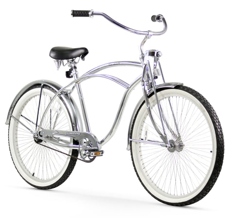 "Firmstrong Urban LRD Single Speed- Men's 26"" Beach Cruiser Bike"