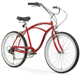"Firmstrong Urban Man 7 Speed - Men's 26"" Beach Cruiser Bike"