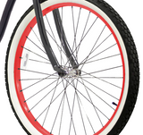 Red With Black Spokes