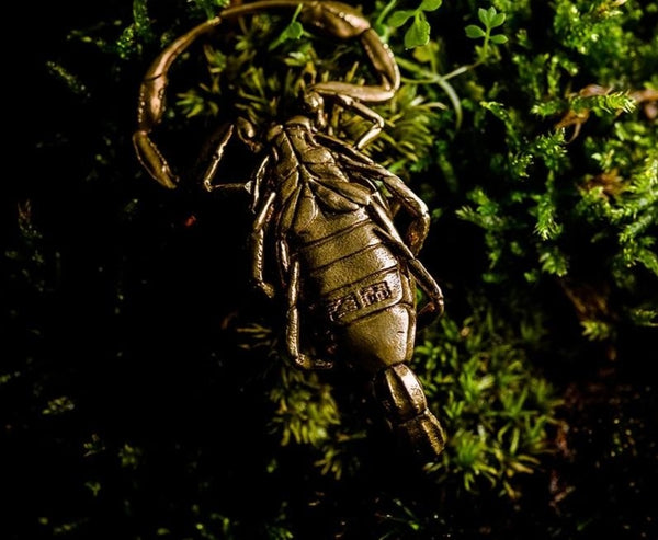 Bronze Scorpion Keychain Golden
