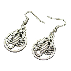 Scorpion Earrings Cheap Siver Color