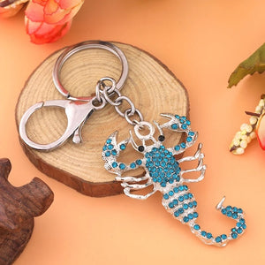 Scorpion Keyring Blue Shiny