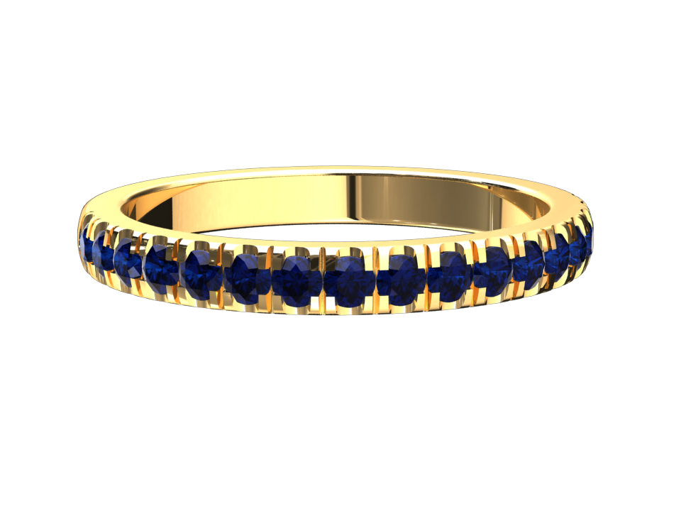 LAB GROWN BLUE SAPPHIRE RING 14K GOLD STYLE# WR2BU14K