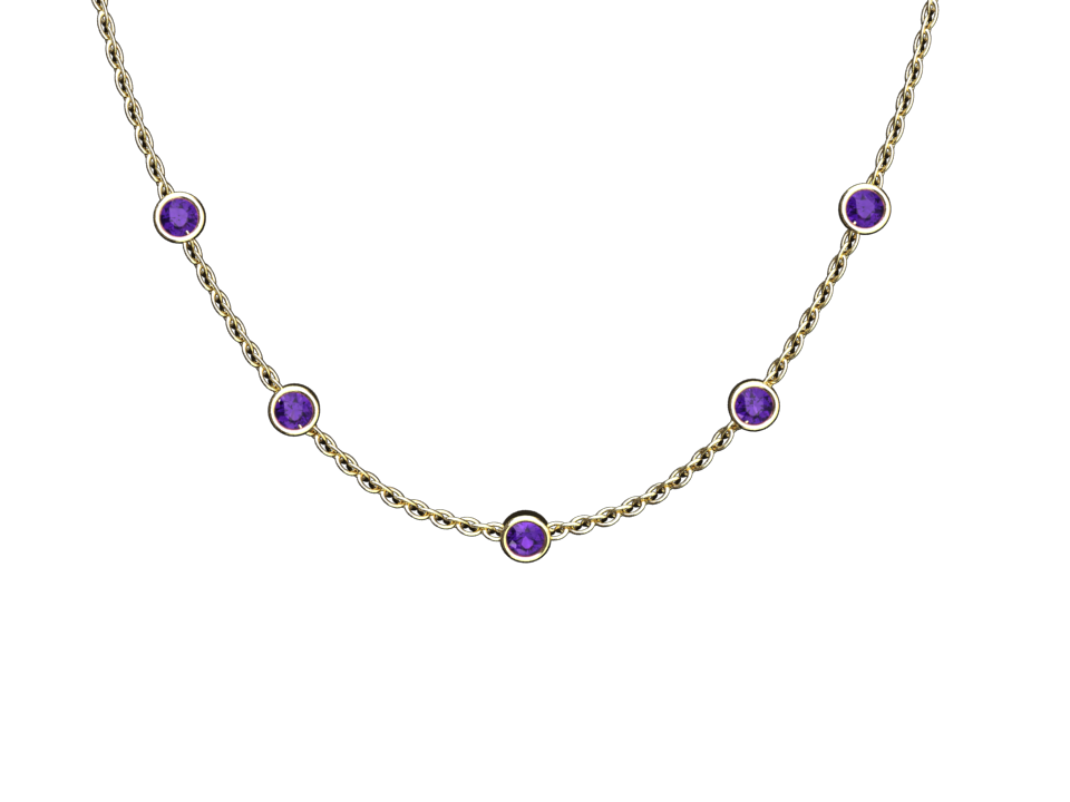 AMETHYST NECKLACE IN 14K GOLD STYLE# WP2PU14K