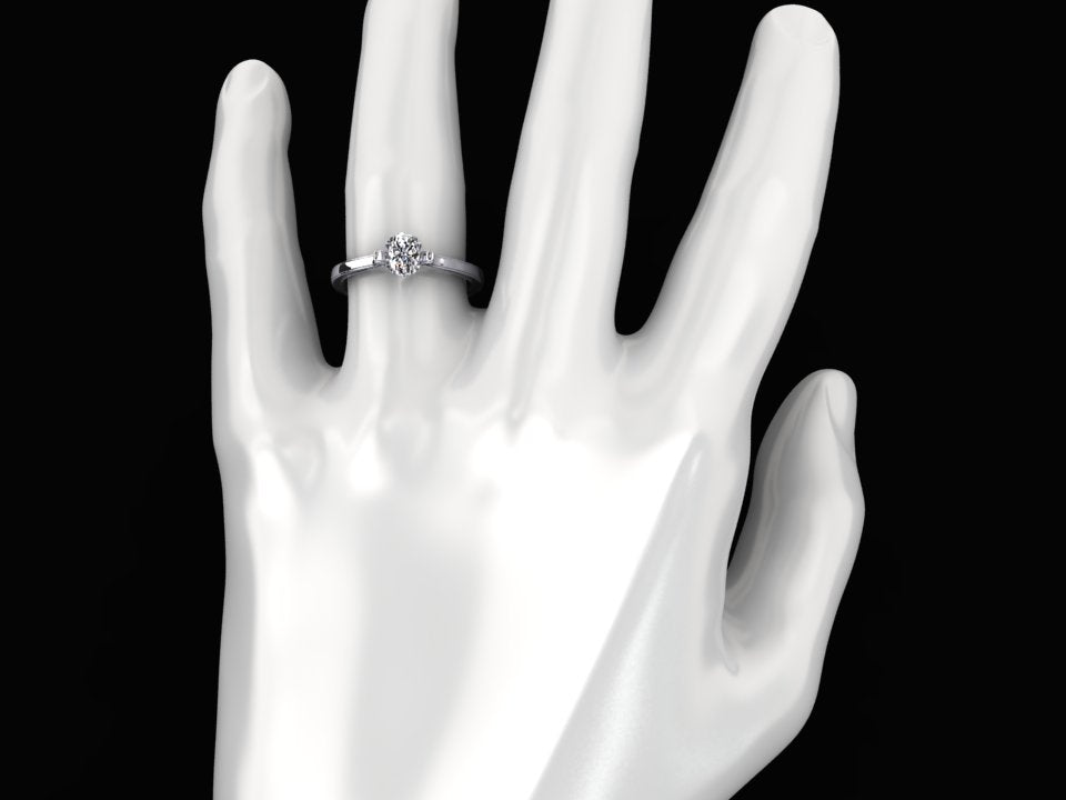 1/4 CARAT OVAL DIAMOND SOLITAIRE 18K WHITE GOLD RING STYLE# XZ4OD18W
