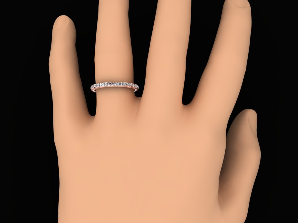 VINTAGE STYLE DIAMOND RING SET IN ROSE GOLD STYLE# SW4BDR