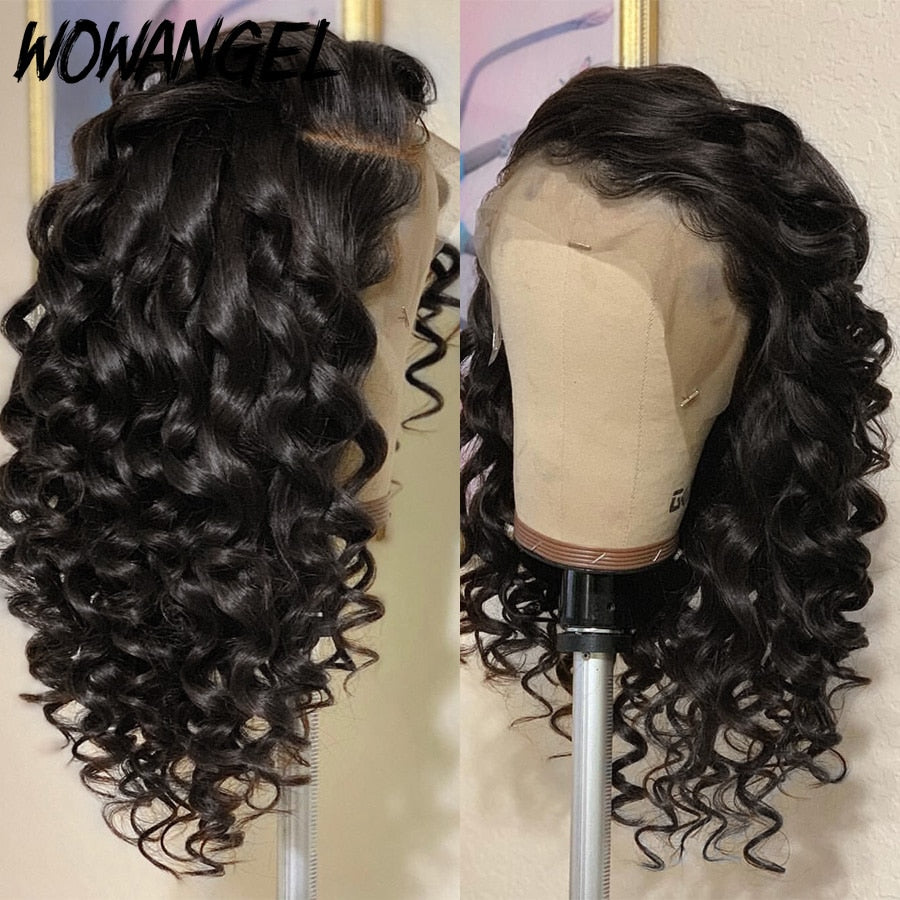 Wigs Curly Full Lace Human Hair  With Baby Hair