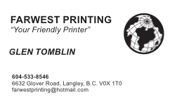 BUSINESS CARDS (Black/White )