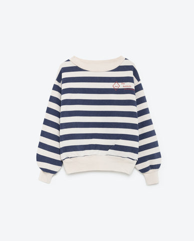 The Animals Observatory Bear Sweatshirt - White Stripe [LAST ONE]