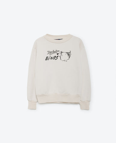 The Animals Observatory Bear Sweatshirt White Linus