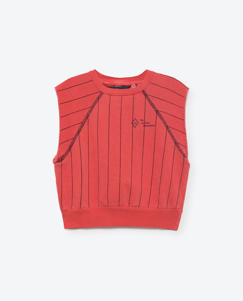 The Animals Observatory Hippos Sleeveless Sweatshirt - Red Stripes