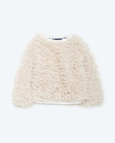 The Animals Observatory Kitten Sweater Faux Fur
