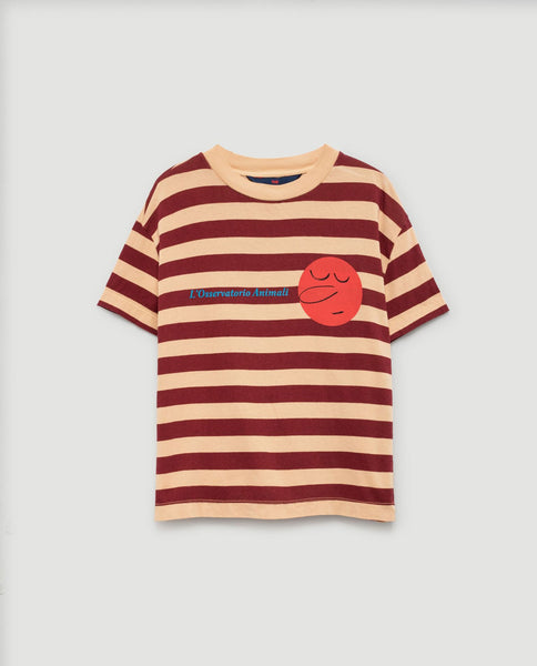 The Animals Observatory FW 17 Rooster T-shirt- Cream Stripes