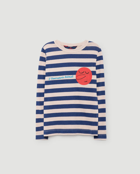 The Animals Observatory FW 17 Dog T-shirt Long Sleeve -Pink Stripes