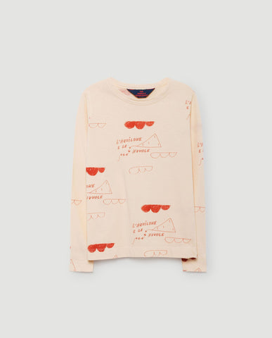 The Animals Observatory FW 17 Dog T-shirt Long Sleeve - Salmon Red Kites 2a4493f4c771