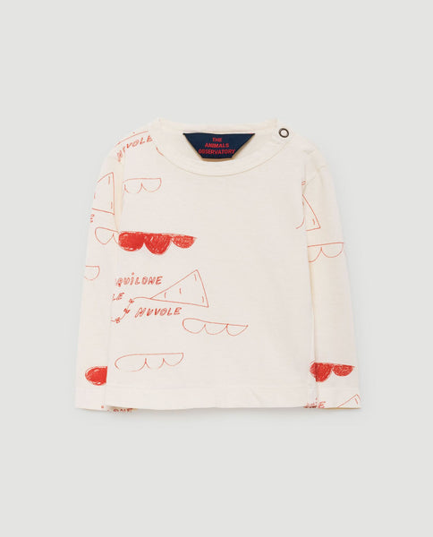 The Animals Observatory FW 17 Dog Babies long Sleeve-White Red Kites