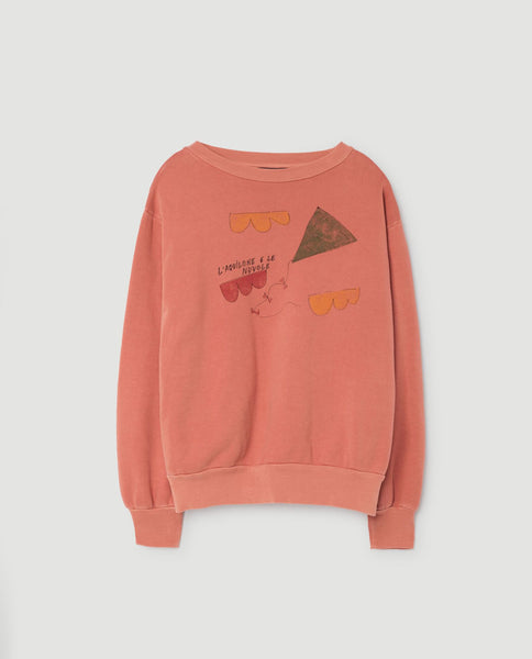 The Animals Observatory FW 17 Bear kids Sweatshirt-Orange Kite