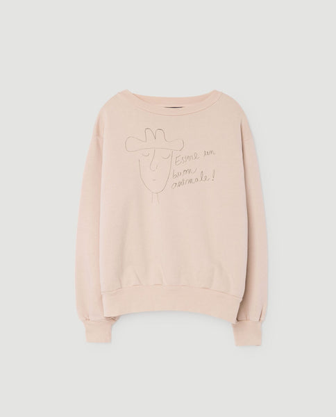 The Animals Observatory FW 17 Bear kids Sweatshirt- Pink Hat