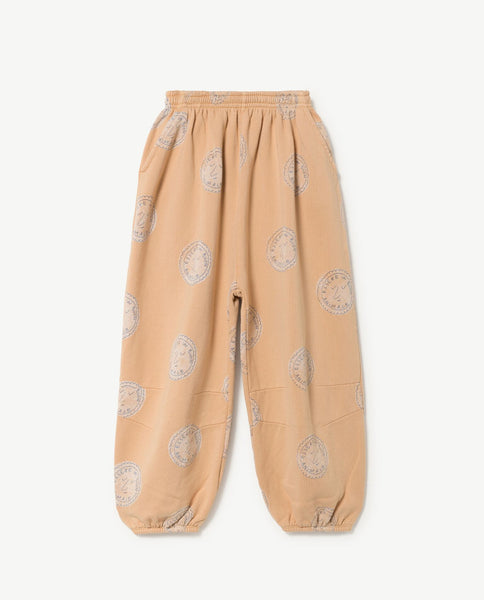 The Animals Observatory FW 17 Dromedary Kids Pants- Cream Stamps