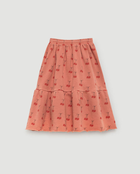 The Animals Observatory FW 17 Cats Kids Skirt- Deep Orange Cherries