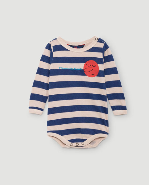 The Animals Observatory FW 17 Babies Body-Pink Stripes