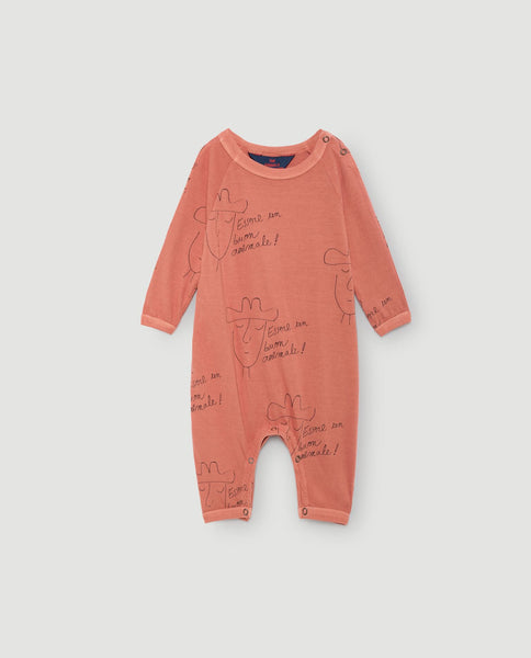The Animals Observatory FW 17 Owl Babies Pajamas-Deep Orange Hats
