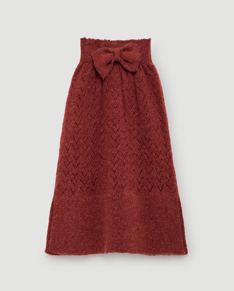 The Animals Observatory FW 17 Bird Kids Skirt- Red Apple
