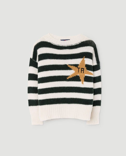 The Animals Observatory FW 17 Bull Kids Sweater-Green Grass