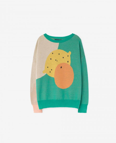 The Animals Observatory FW 17 Bull Kids Sweater- Green Grass