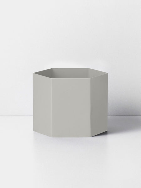 Ferm Living Hexagon Pot | Light Grey XL