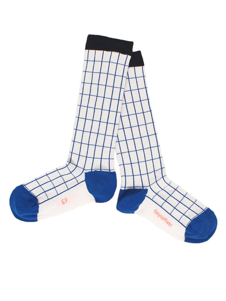 Tiny Cottons Grid High Socks