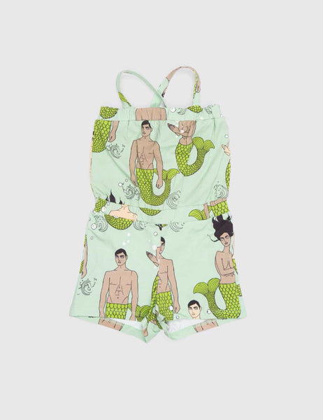 Mini Rodini Mermies Print Summersuit Green [LAST ONE]
