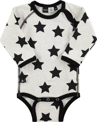 Molo Field Black Star Onesie