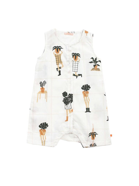 Tiny Cottons Crazy Garden Woven Short Onepiece [LAST ONE]