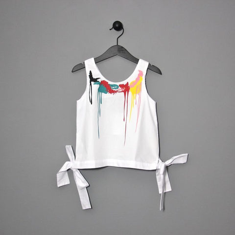 Wolf & Rita Mara Tank in White [LAST ONE]