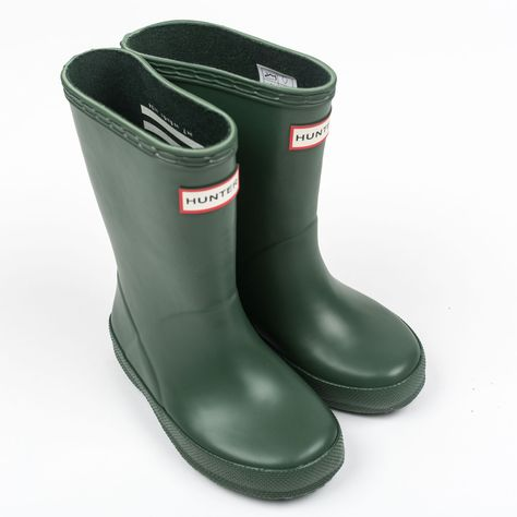 Original Kids First Classic Rain Boots: Hunter green