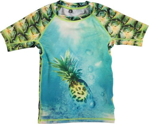 Molo Neptune Pineapple short sleeve rash guard