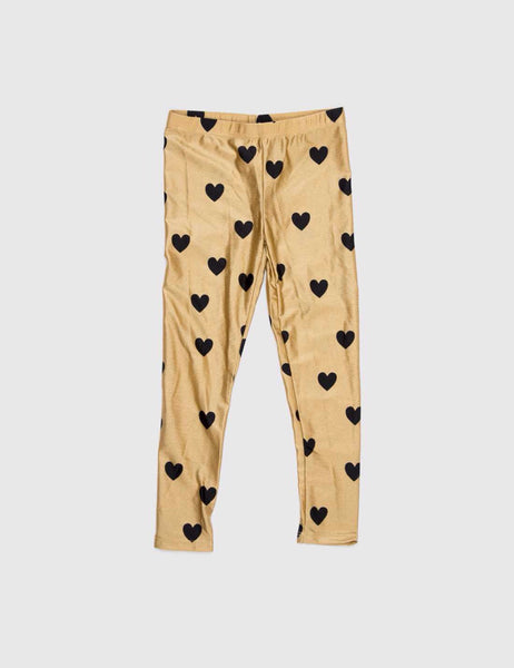 Mini Rodini Love Print Leggings - Beige