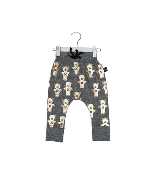 Huxbaby SS17 Soldier Bear Drop Crotch Pants in Charcoal