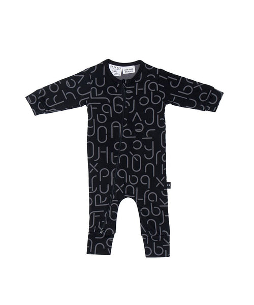 Huxbaby Soft Text Zip Romper