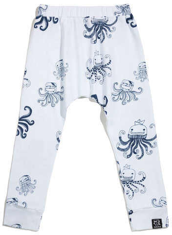 Kukukid White Octopus Harem Pants